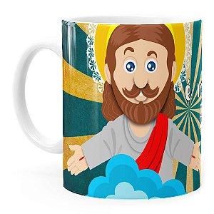 Caneca Jesus Senhor é Meu Pastor v01 Branca