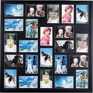 Porta Retrato 70x70 para 23 Fotos Preto PN23