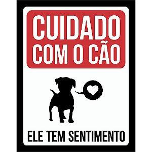 Placa Decorativa Cão com Sentimento 214