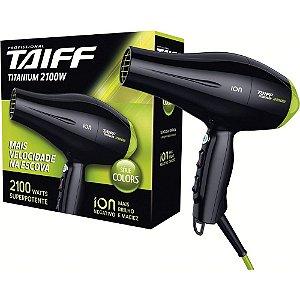 Secador Taiff Titanium Colors Verde 2100W 110V