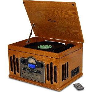 Toca Discos Classic Kansas 32386 com USB, CD e MP3 Player