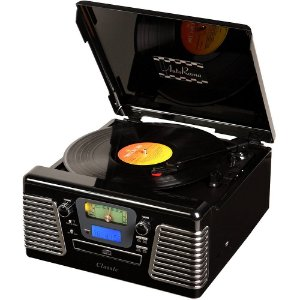 Toca Discos Classic AutoRama Preto 33836 USB, CD e MP3 Player