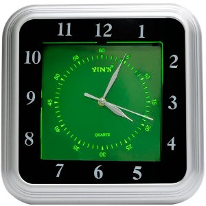 Relógio de Parede Yins YI15083 Fluorescente 35cm