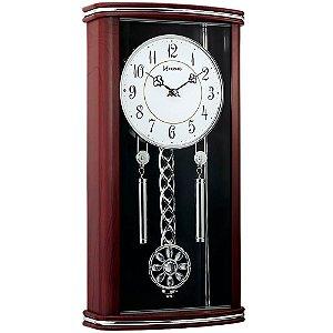 Relógio de Parede Grande Herweg Clássico com Pêndulo 6391-084