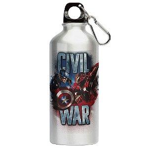 Squeeze Civil War Capitão América e Iron Man 500ml Aluminio