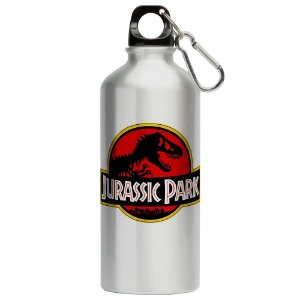 Squeeze Jurassic Park Black Red 500ml Aluminio