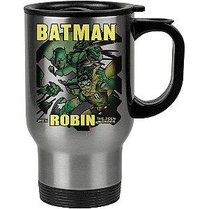 Caneca Térmica Batman and Robin 500ml Inox