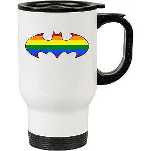 Caneca Térmica Batman LGBTQ 500ml Branca