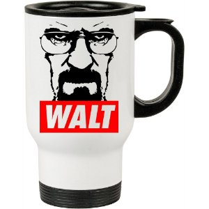 Caneca Térmica Breaking Bad Walt 500ml Branca