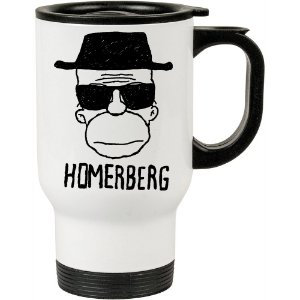 Caneca Térmica Breaking Bad Homerberg 500ml Branca