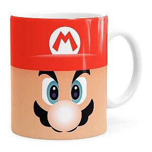 Caneca Mario Super Mario Bros Face Branca