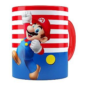 Caneca Super Mario Bros Mario Pulando Vermelha