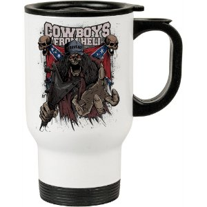 Caneca Térmica Cowboys do Inferno 500ml Branca