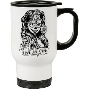 Caneca Térmica Dead All Over Zombie Comic 500ml Branca