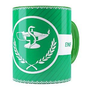 Caneca Profissões Enfermagem v01 Verde
