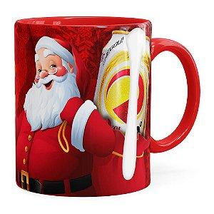 Caneca Natal Skol v02 Vermelha