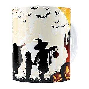 Caneca Halloween Dia das Bruxas v03 Branca
