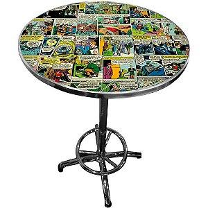Mesa Bar Dc Comics Quadrinhos em Ferro