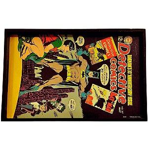 Bandeja Batman Retrô HQs em Madeira 45x29cm