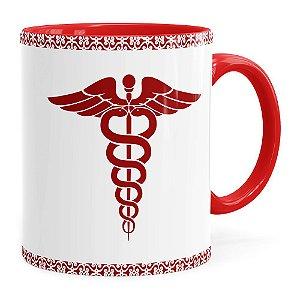 Caneca Profissões Médica v01 Vermelha