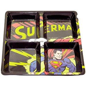 Petisqueira Quadrada Superman Raios em Melamina