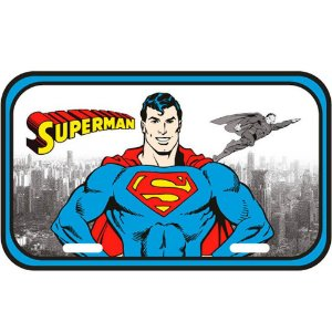 Placa Decorativa Superman Detroit City 30x15cm