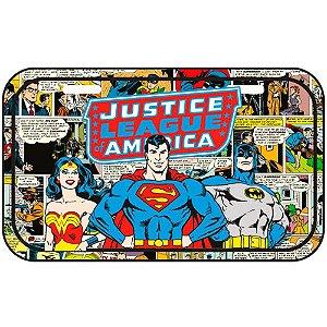Placa Decorativa Superman Liga da Justiça HQ Metal 30x15cm