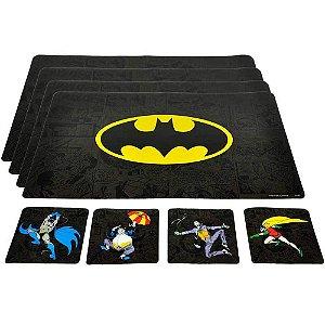 Conjunto 4 Jogos Americanos e Porta Copos Batman Enemies