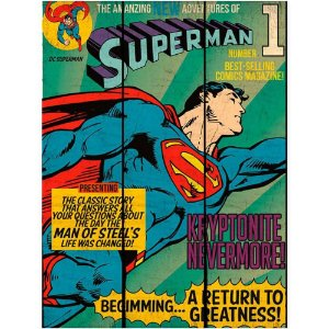 Placa Superman Flying Madeira 50×36,6cm