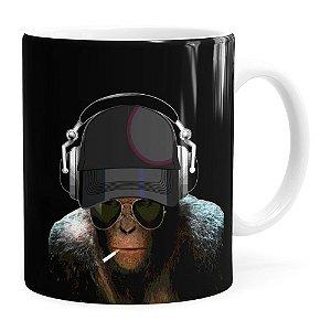 Caneca Deejay Monkey Branca