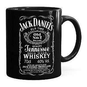 Caneca Jack Daniels Whiskey Preta
