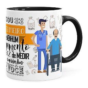 Caneca Personalizada Sou Enfermeiro com Nome Preta