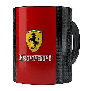 Caneca Porcelana Ferrari v01 Preta