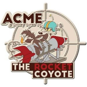 Placa Decorativa Coyote Acme The Rocket Metal 35cm