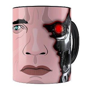 Caneca Exterminador do Futuro Schwarzenegger Preta