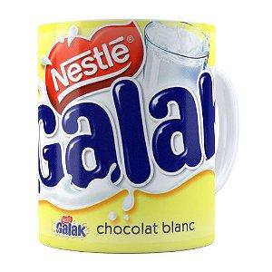 Caneca Chocolate Galak Porcelana Branca