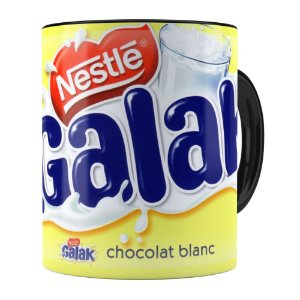 Caneca Chocolate Galak Porcelana Preta