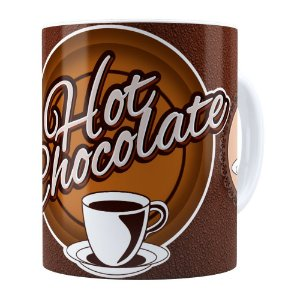 Caneca Chocolate Hot Chocolate Branca