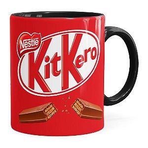 Caneca Chocolate KitKero Preta