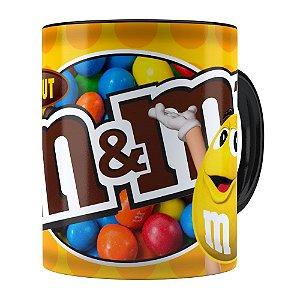 Caneca Chocolate M&M'S Peanut Preta