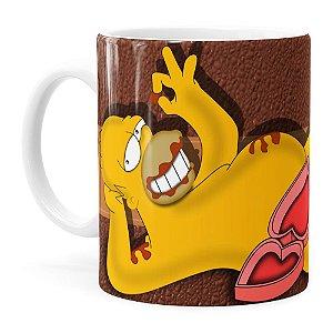 Caneca Chocolate Os Simpsons Homer Choco Lover Branca