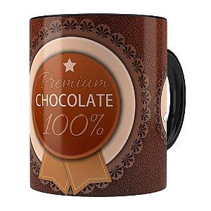 Caneca Chocolate Premium Chocolate 100% Preta