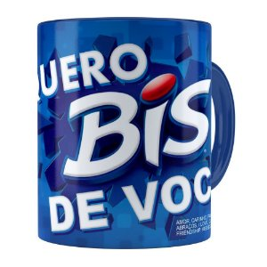 Caneca Chocolate Quero Bis de Você v03 Azul Escuro