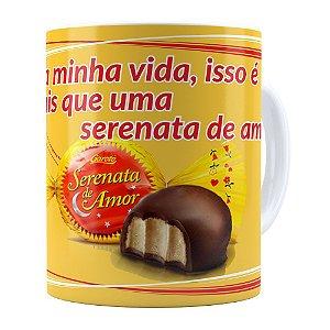 Caneca Chocolate Serenata de Amor v01 Branca
