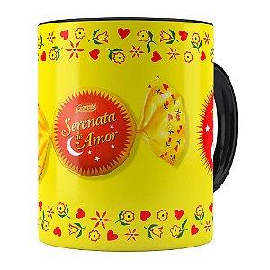 Caneca Chocolate Serenata de Amor v02 Preta