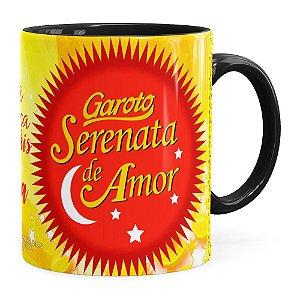 Caneca Chocolate Serenata de Amor v03 Preta