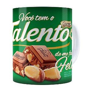 Caneca Chocolate Talento Barra Mensagem v02 Branca