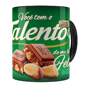 Caneca Chocolate Talento Barra Mensagem v02 Preta