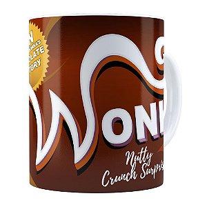 Caneca Chocolate Wonka Fábrica de Chocolate Branca