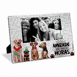 Porta Retrato Amizade Cachorrinhos 10x15